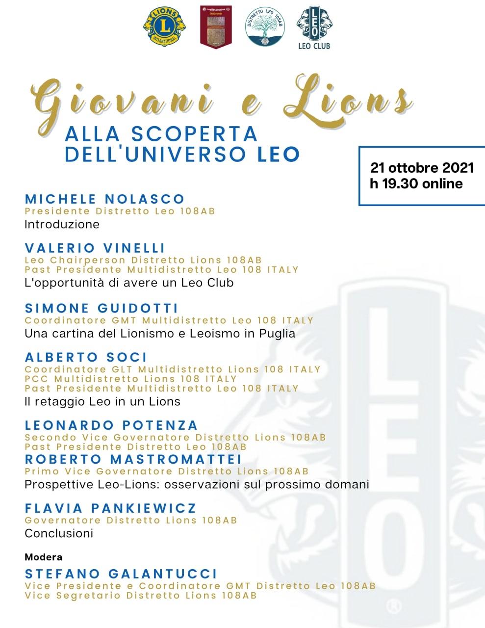 Giovani e Lions - ALLA SCOPERTA DELL'UNIVERSO LEO